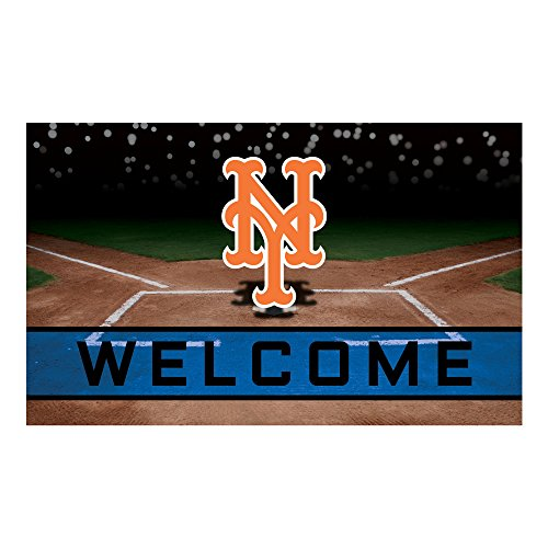 FANMATS 21926 Team Color Crumb Rubber New York Mets Door Mat