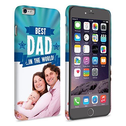 Caseflex iPhone 6 / 6S Plus Coque Personnalisable Rigide Bleu Meilleur Papa Du Monde
