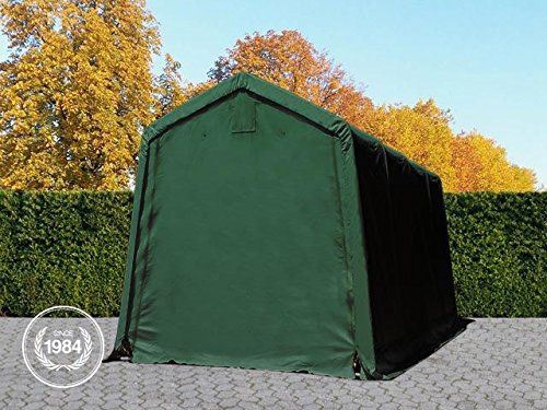 OOLPORT-24-x-36-m-Heavy-Duty-PVC-Carport-Tent-Portable-Garage-Vehicle-Shed-compact-Storage-Shelter-100-waterproof-in-dark-green
