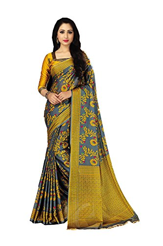 Indian Sarees for Women Wedding Designer Party Wear Traditional Gary Sari. by PinkCityCreations