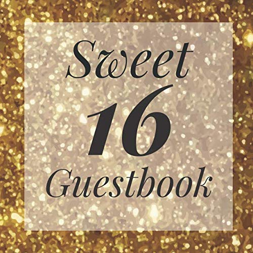 Sweet 16 Guestbook: Signing Book with Photo Space and Gift Log - Party Guest Book -