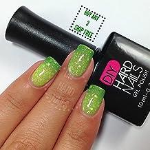 Gel Nail Polish - DIY Hard Nails - Shellac Nail Polish - Glamorous Color Changing, Glitters, and Shimmering Gel Nail Polish Colors - BONUS: FREE Gel Nail Salon E-BOOK Guide with Every Purchase (Jade Glitz)