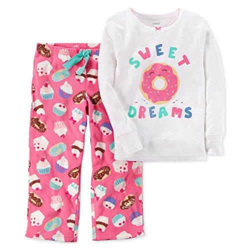 Carter's Baby Girls' 12M-14 2 Piece Donut Fleece Pajamas 4
