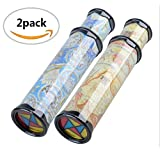Bloomood 2Pack magic kaleidoscope,best birthday gift for children.Party Toy For Kids for Autistic Children(Two Colours)