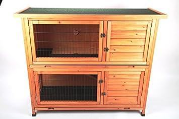 Aparador de conejo Conejera Cobertizo para animales pequeños Puesto 2 plantas NUEVO: Amazon.es: Productos para mascotas