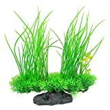 Image of Aquarium Plants, High Simulation Artificial Plastic Plant Green Grass Aquarium Decoration for Fish Tank Landscaping Aquarium Accessories, Water Grass Décor, 8.3 Inch
