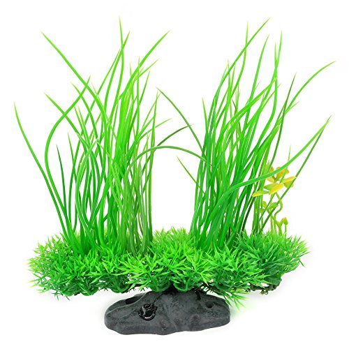 Mylivell Aquarium Plants, High Simulation Artificial Plastic Plant Green Grass Aquarium Decoration...