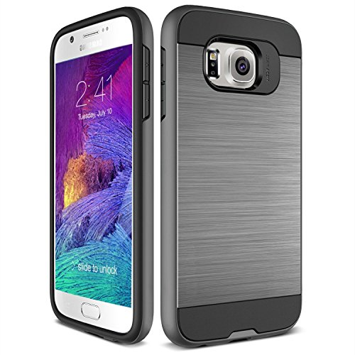 S7 Case, TekSonic Samsung Galaxy S7 Case [Gunmetal] [Brushed Metal Texture] Heavy Duty Full Cover Protection Tough Case for Samsung Galaxy S7 Phones (Dark Silver)