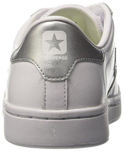Konversere Dame Pl Lp Ox Sneakers Weiß (hvid / Sølv / Hvid) DFIlTA