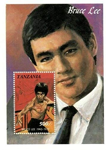 Bruce Lee - Kung Fu Movies - Chinese Movie Star - Limited Edition Collectors Stamps - Tanzania