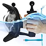 First2savvv Diving Underwater Camera Lens Dome Port Lens Housing with Hood and 2 Handheld Grips for GoPro Hero 3+ 4 with LCD Sreen Underwater Photography + blue USB fan