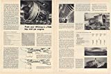 1969 Pratt and Whitney JT9D Big Civil Jet Engine Technical Data 3-Page Article (62511)