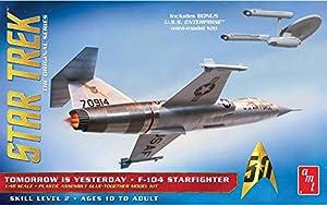 1/48 Star Trek F-104 Starfighter with Star Trek Original Series Tomorrow is Yesterday enterprise