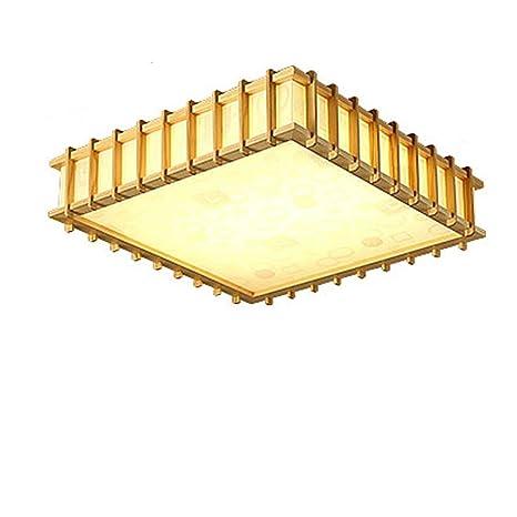 HHH®-luz de techo japonesa creativa simple madera coreana ...