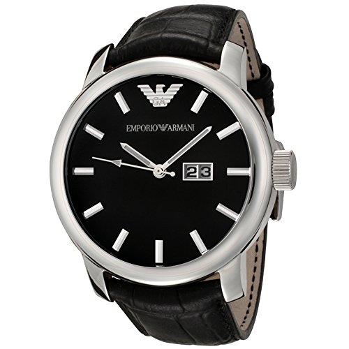 Amazon.com: Emporio Armani AR0428 clásico dial negro reloj ...