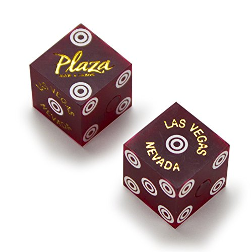 Pair of Authentic Plaza Casino Cancelled Craps Dice - Actually Used in Casino! by Brybelly