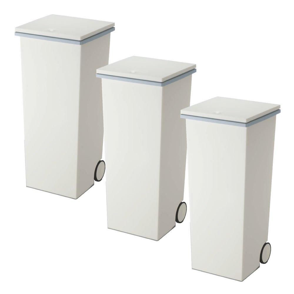 岩谷マテリアル kcud スクエア プッシュペール 3個セット ゴミ箱 ごみ箱 ダストボックス おしゃれ ふた付き クード (Wグレー×Wグレー×Wグレー) B0742BL8T2 Wグレー×Wグレー×Wグレー Wグレー×Wグレー×Wグレー