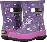 Bogs Skipper Kids Waterproof Rubber Rain Boot for Boys and Girls, Cattail Print/Purple/Multi, 9 M US Toddler