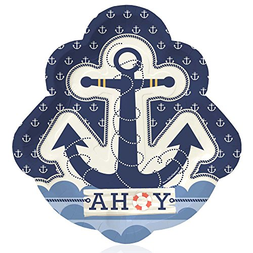 Big Dot of Happiness Ahoy Nautical - Party Dinner Plates (8 count) ()