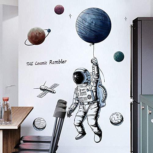 Esmee 3D Astronauta Pegatinas de Pared Vinilo Decorativo con para salón, Oficina, baño, Cocina, Dormitorio, decoración…