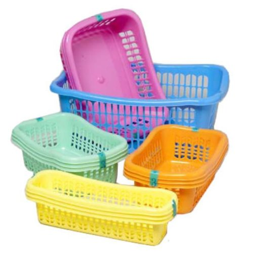 BASKETS 4 SIZES 6 COLORS IN WHITE PDQ, Case Pack of 120 from D&D