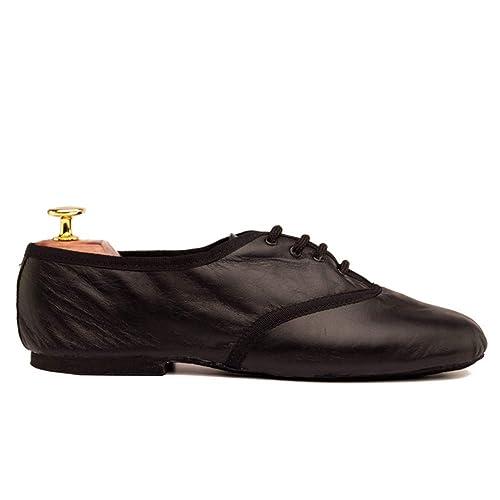Manuel Reina - Zapatos de Baile Latino Hombre Jazz Black - Bailar Bachata y Salsa -