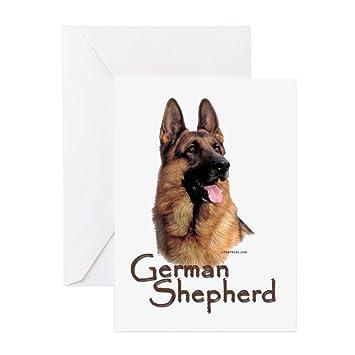 Amazon cafepress german shepherd dog 1 greeting card 10 cafepress german shepherd dog 1 greeting card 10 pack m4hsunfo