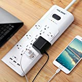 HOLSEM 12 Outlets Surge Protector Power Strip with