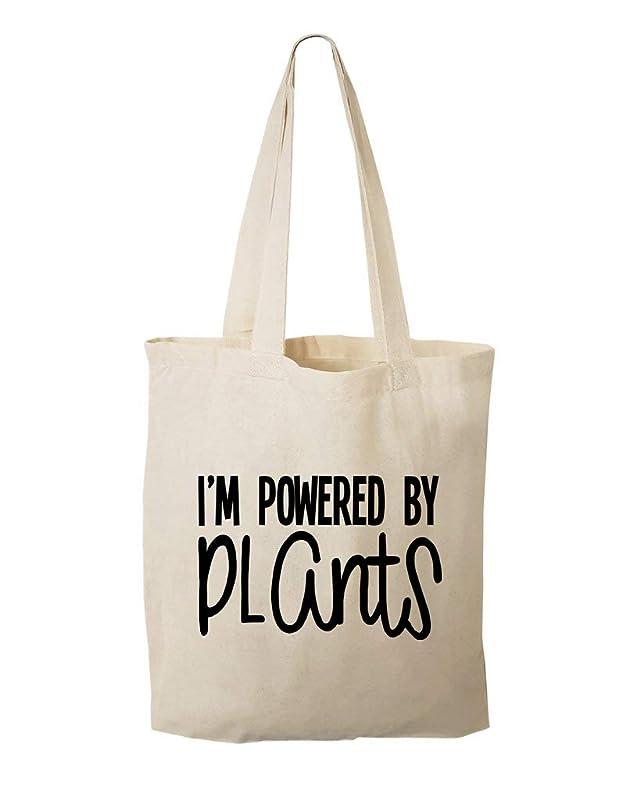 Plant Power Vegan Tote Bag  Graphic Tote Bag  Canvas Tote Bag  Grocery bag  Vegan gift  gift for Vegan  Original Design Cotton Tote