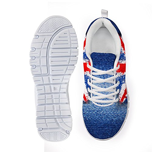 Shoes Men Sneaker UK Flag Fashion pattern Outdoor Running 11 Women US Sport CHAQLIN Pattern UH8qgEZxKw