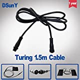 Pukido DSunY Truing-B/D 0.6m/1.5m/2m Extension Cord & 2m Extension Cord for Power LED Aquarium Light Connecting The Controller & Panels - (Color: 150cm)