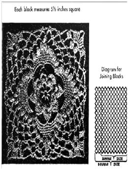 #0468 IRISH CROCKET - BEDSPREAD VINTAGE CROCHET PATTERN (Single Patterns) by [Princess of Patterns]
