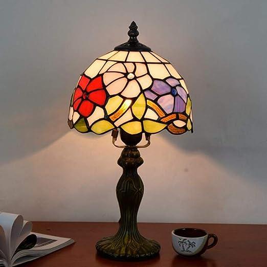 Lámpara de mesa de estilo Tiffany Lámpara de sobremesa de 8 ...