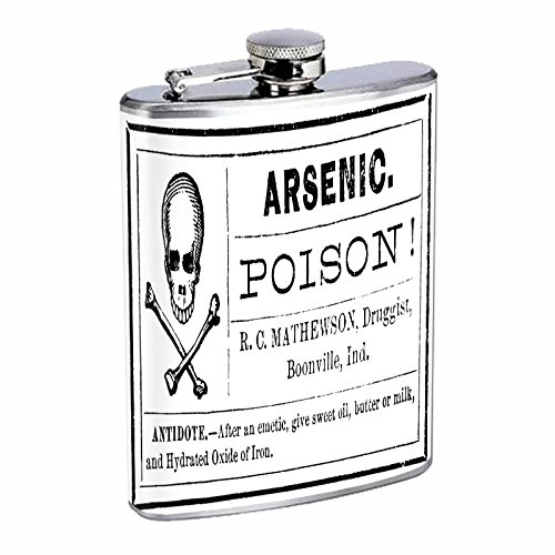 (Stainless Steel 8oz Hip Silver Flask Retro Halloween Nights S22 Spooky Scary Ghosts Drinking Whiskey Liquor)