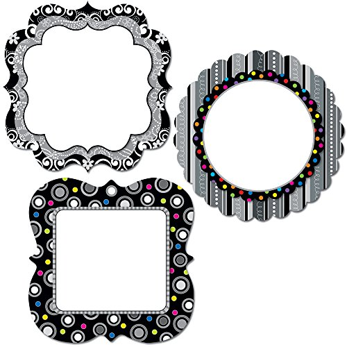 Creative Charts - Creative Teaching Press BW Collection Chart Cards 6-Inch Designer Cut-Outs (0959)