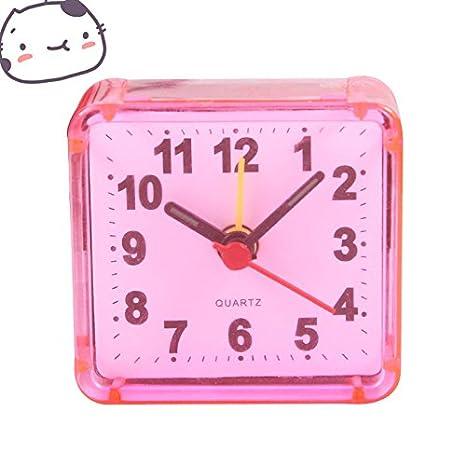 Enzhe Reloj Despertador Multifuncional Mini Reloj ...