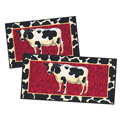 Cow 2 pc Kitchen Rug Set