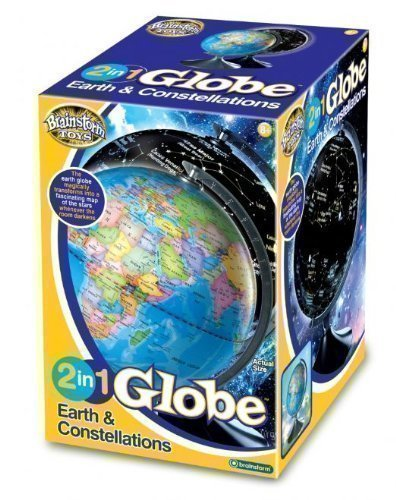 New Kids 2 In 1 Day Night Glow Globe Earth & Constellations Illuminated Gift Toy by Brainstorm .