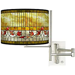 Tempo Tiffany-Style Lily Plug-in Swing Arm Wall Lamp