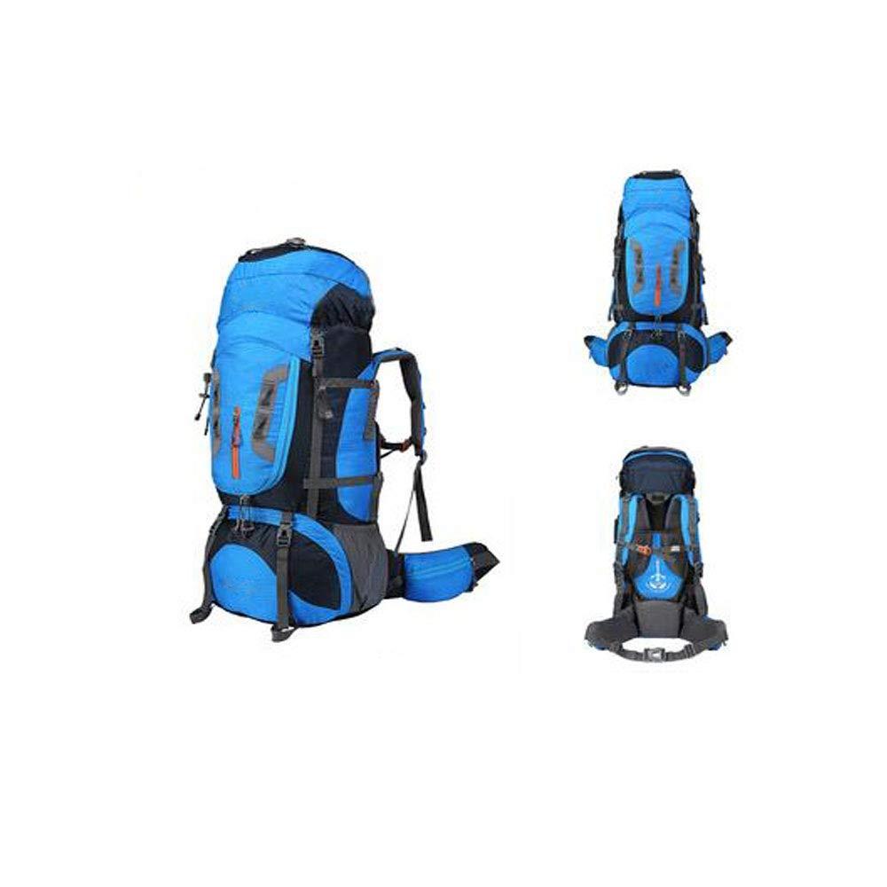 バックパック、登山バッグ大容量男性と女性80 Lアウトドア多機能旅行ハイキング防水耐摩耗性バックパックポータブル B07RXGX84F Blue 83*35*25cm
