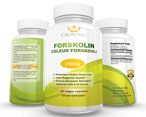 Ultra Coleus Forskolin Root Extract for Weight loss °*250mg at 20 % Standardization Reseach Verified *Slim Trim Diet Formula * Potent Metabolism Booster *Belly Buster * Lifetime Guarantee by Amazon -  Crownio