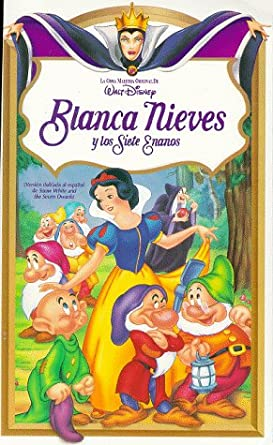Blanca Nieves Y Los Siete Enanos Snow White And The Seven Dwarfs Vhs Adriana Caselotti Harry Stockwell Lucille La Verne Roy Atwell Stuart Buchanan Eddie Collins Pinto Colvig Marion Darlington Billy