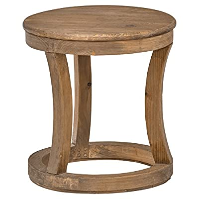 "Amazon Brand – Stone & Beam Modern Rustic Reclaimed Elm Round Accent Side End Table, 16.9""W, Natural - Touches of modern and rustic intersect in this beautifully crafted side table. Uniform, reclaimed elm wood throughout the piece gives the appearance of being carved out of a single log. Its compact size makes it ideal for placing in tight spaces. 16.9""Diameter x 18.1""H Entire piece is made of reclaimed elm - living-room-furniture, living-room, end-tables - 511D2Yr2bJL. SS400  -"