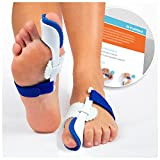 VulMed Bunion Corrector and Bunion Splint Big Toe Straightener Hammertoe Hallux Valgus Foot Pain Relief (1-Pair)