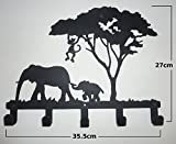 Stylish Metal Art Decor Wall Mounted Hook Hanger Coat Rack (animal Elephant)