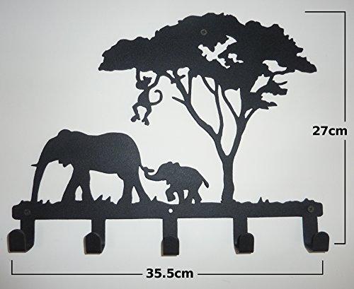 Stylish Metal Art Decor Wall Mounted Hook Hanger Coat Rack (animal Elephant) (Metal Elephant Art)