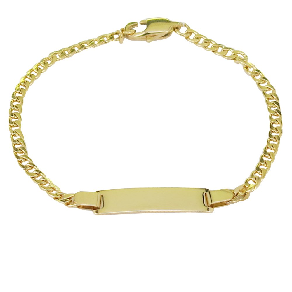 Personalized Gold Name Plated Bracelet 4'' Free Engraved Bracelet for baby