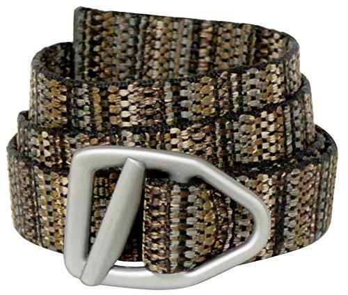 Bison Designs Viper Gunmetal V-Ring30mm Web Belt - Adult Medium Web