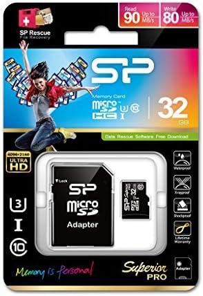 Silicon Power Microsdhc Class 10 Uhs I U3 32 Gb Memory Computers Accessories