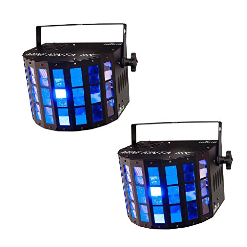 2 Chauvet DJ Mini Kinta IRC LED RGBW Sharp Beams Derby DMX Ambient Light Effects by Chauvet
